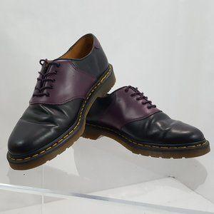 DR. MARTENS 'Rafi' Black & Purple Unisex Leather